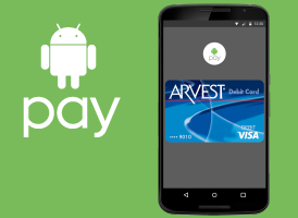 Set up Android Pay on your Arvest Debit Card