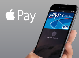 Use Apple Pay with your Arvest debit and credit card