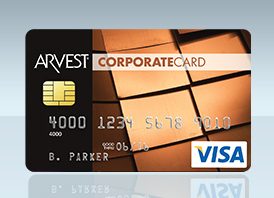 Corporate Credit Card Visa from Arvest Bank