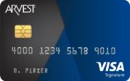 Arvest Visa Signature Card