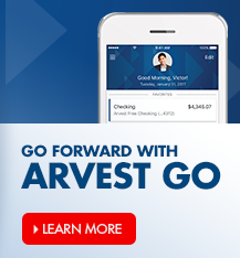 Download Arvest Go, the mobile banking app from Arvest Bank