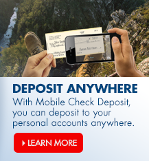 Deposit checks with your phone using Arvest's mobile check deposit on our mobile banking app