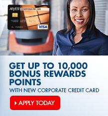 Earn Rewards Points fast with a new Arvest Corporate Credit Card