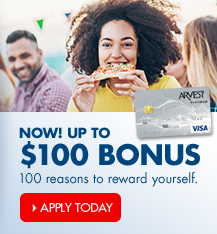 Apply for an Arvest credit card and earn bonus rewards