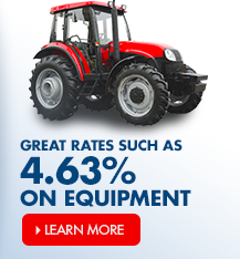Time to updgrade your equipment? Arvest offers great rates such as 4.63%.