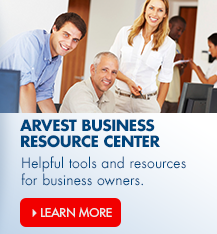 ArvestBiz.com is Arvest Bank's financial resource center for businesses.