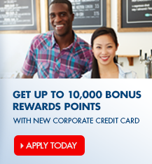 Apply online for an Arvest Corporate Credit Card and earn up to 10,000 Flex Rewards Points.