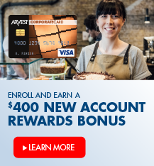 Enroll & earn a $400 new account rewards bonus when you open a corporate credit card.  Apply Now!