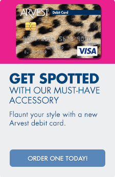 Arvest offers a variety of chip-enabled affinity cards