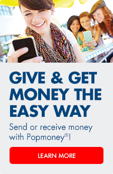 Send money from one bank account to another with Popmoney