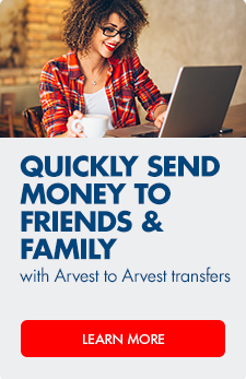 Transfer funds between Arvest accounts for free with Arvest to Arvest Transfers