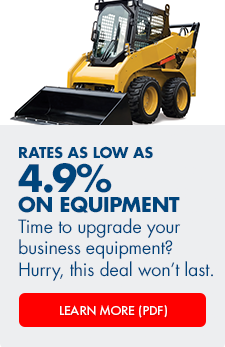 Arvest Bank is offering special rates on equipment finance loans for a limited time
