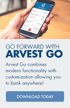 Download Arvest Go today, which combines modern functionality with customization allowing you to bank anywhere.