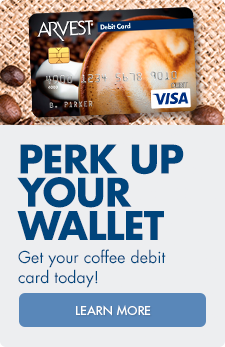 Perk up your wallet! Arvest offers a variety of debit card designs. Order yours today.