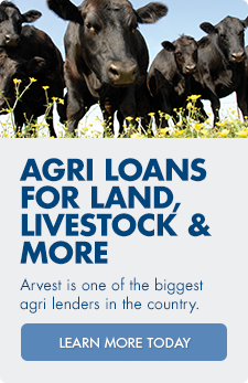 Arvest offers agricultural loans for land, livestock and more.  Click here to learn more.