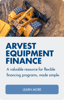 Flexible financing programs made simple - learn more about Arvest equipment finance.