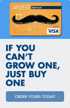Find the debit card designed to fit your style at Arvest Bank.