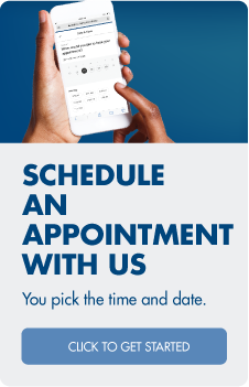 We're here to help!  Schedule an appointment with us.