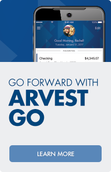 Download Arvest Go - the new mobile banking app from Arvest Bank.