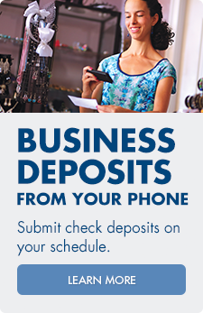 Arvest Bank offers a mobile deposit service for businesses to make depositing checks easy.