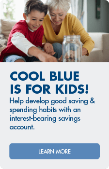 Cool Blue Savings is for kids. Open an account!