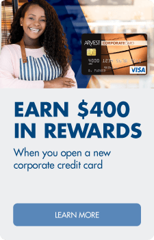 Earn $400 in rewards when you open a new corporate credit card. Learn more.