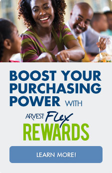 When you get a credit card with Arvest Bank you can take advantage of the Flex Rewards program to earn points you can use for cash back, statement credits, travel, gift cards and more.