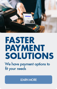 Learn about faster payment solutions with our merchant services.