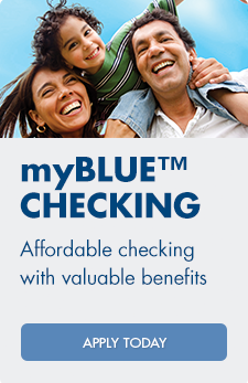 Arvest's myBlue checking account offers affordable checking with unlimited Online BillPay