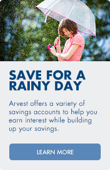 Open a new savings account at Arvest.