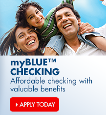 Arvest Bank's myBlue checking account offers featuring a free debit card, free online and mobile banking, and much more.