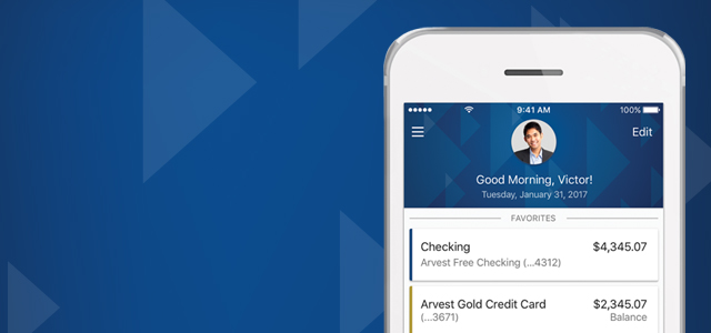 Arvest GO App from Arvest Bank