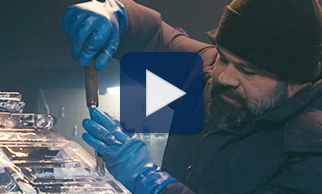 Watch expert ice sculptor Paul Miller share how he uses chisels and chainsaws to create cool art in this video.