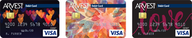 Arvest offers over 200 different debit card styles for you to choose from